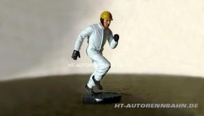 Figur Rennfahrer Epoche 50-60er Jahre laufend